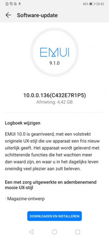 Huawei Mate 20 Pro Android 10 update
