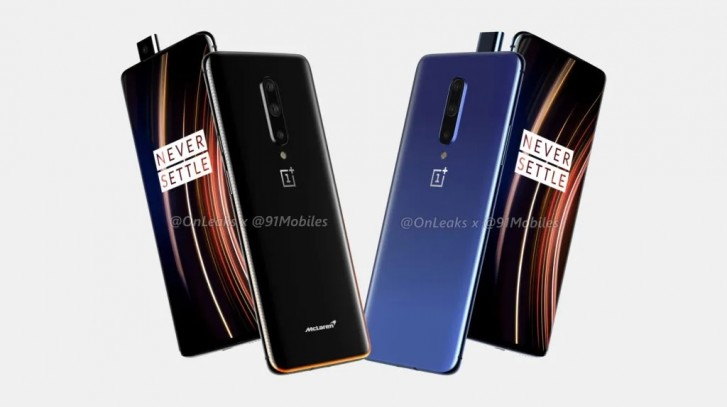 OnePlus 7T Pro and OnePlus 7T Pro McLaren Edition leaked render