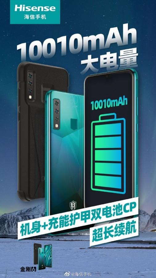 HiSense King Kong 6 with 10,010mAh Battery