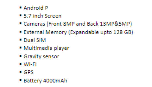 LG Neo One user manual specs