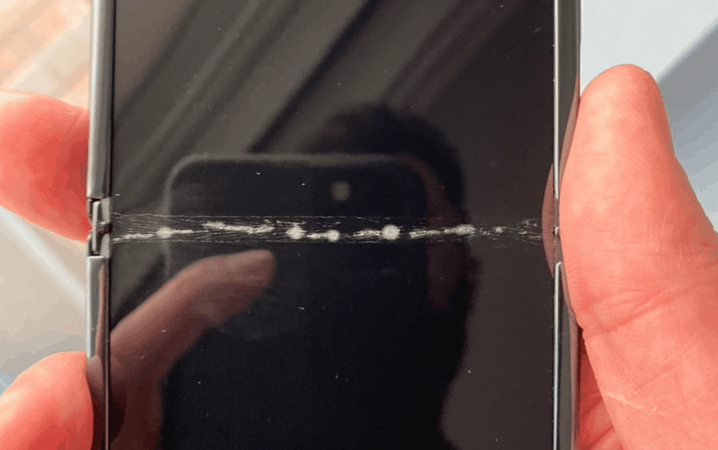 Cracked Samsung Galaxy Z Flip