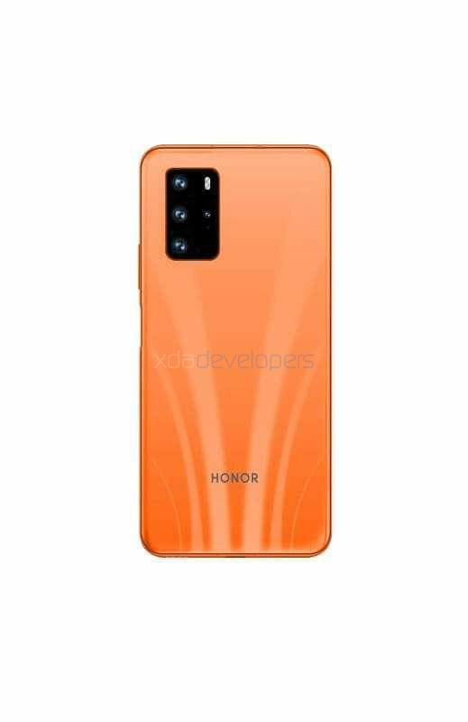 Honor 30S render (Orange)