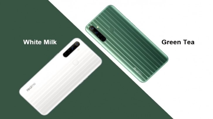 Realme 6i White Milk and Green Tea color options