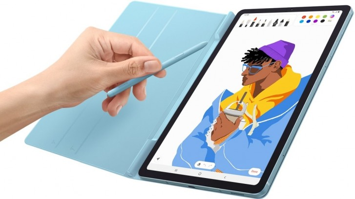 Samsung Galaxy Tab S6 Lite with S-Pen and Book Cover