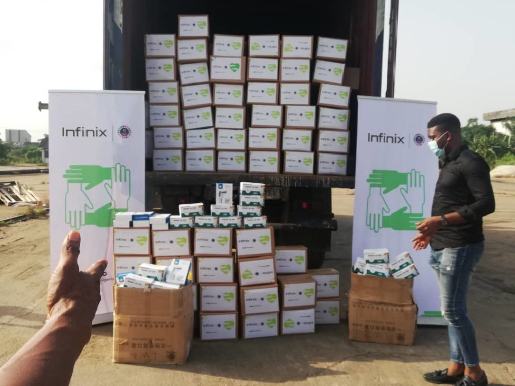 Infinix Mobility Limited donates Food Items to the Lagos State Government