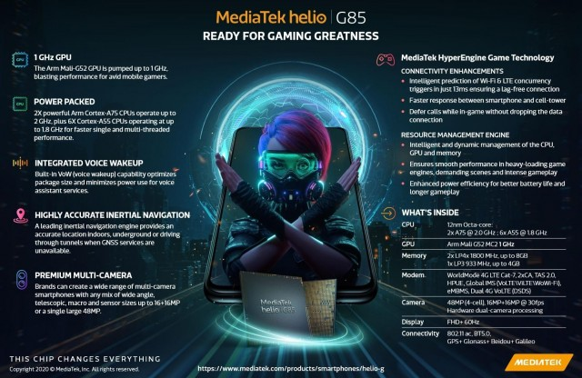 MediaTek Helio G85 Features