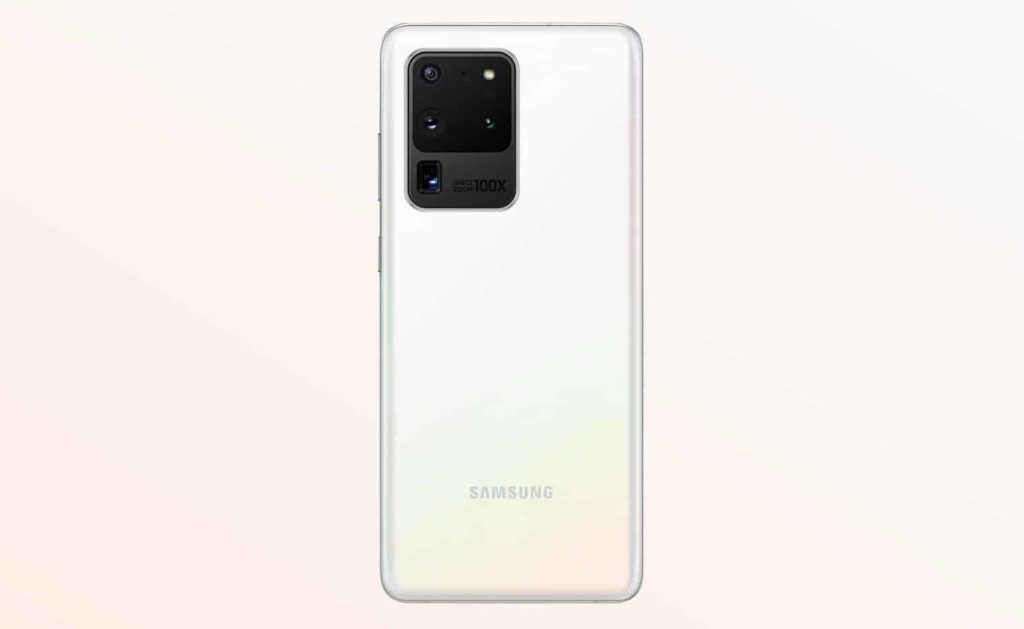 Samsung Galaxy S20 Ultra White Cloud Color Option
