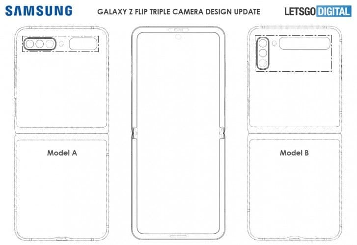 Samsung Galaxy Z Flip Second Generation Patent Renders