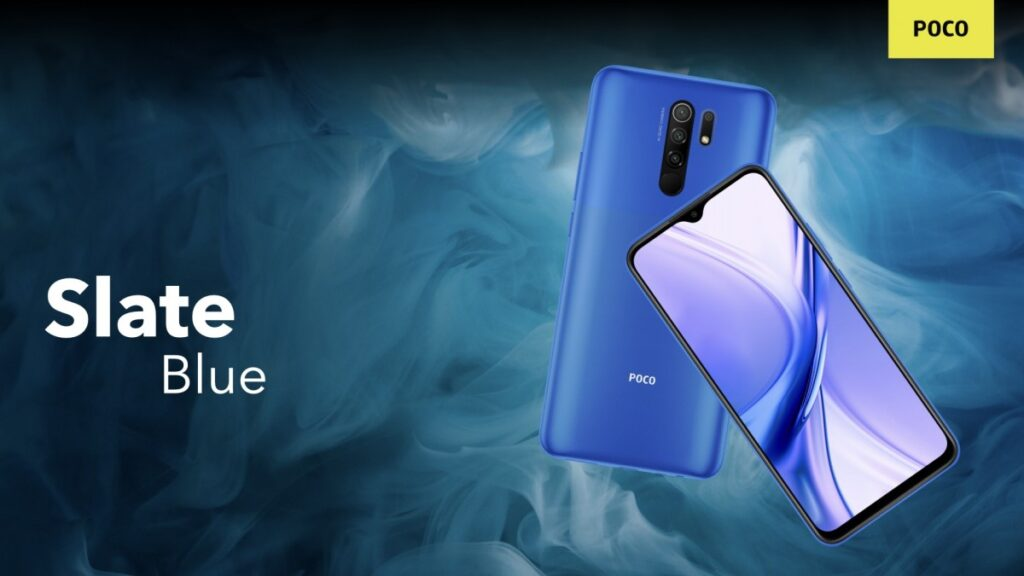 POCO M2 Slate Blue color